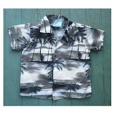 RJC Hawaii Palm Trees Print Kids Aloha Surfer Shirt 3T