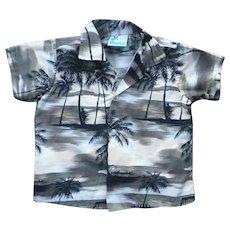 RJC Hawaii Palm Trees Print Kids Aloha Surfer Shirt 3T