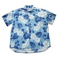 Dressy Hilo Hattie Hibiscus Print Hawaiian Aloha Surfer Shirt