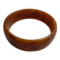 Caramel Cinnamon Swirl Bakelite Bangle Bracelet