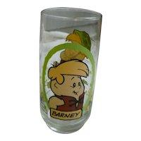 Vintage 1986 Flintstones Kids Barney Pizza Hut Glass