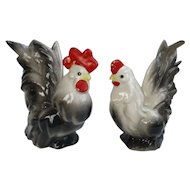 Distinctive Vintage Rooster and Hen Figurines