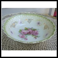 Beautiful Bavarian Roses Hand Painted Serving Bowl