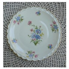 Beautiful Bavarian Flowers Hand Painted Plate