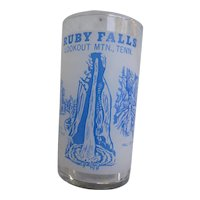 Ruby Falls Lookout Mtn Tenn Souvenir Glass