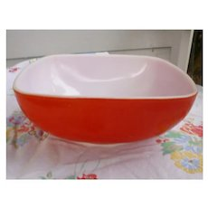 Vintage Mid-Century Red Square Pyrex Hostess Casserole
