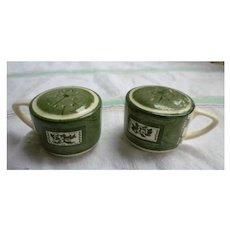 Colonial Homestead Salt and Pepper Shakers by Royal China