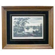 The Hudson River View Near Fort Miller 1825 Facsimile Print Framed