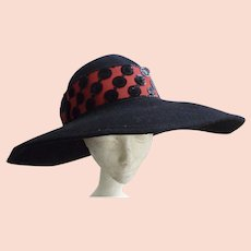 d0637fac8347f8 Toucan Signed Cherry Red Wool w/ Purple Trim Hat : Kitsch & Couture ...