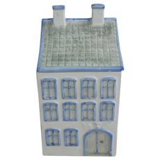 Blue and White House Dansk Cookie Biscuit Jar