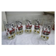 Gambling Casino Theme Tumblers Set of Five