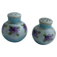 Dainty Violets Porcelain Salt and Pepper Set