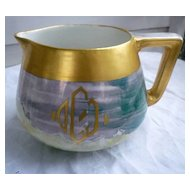 Unique Bernardaud & Co B&Co Limoges Monogram Cider Pitcher