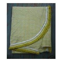 Handsome Houndstooth Check Yellow Green White Morgan Jones Bedspread