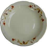 Hall Jewel Tea Autumn Leaf Flat Rim 8 ½ inch Soup Bowl