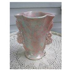Pink and Green Mottled Glaze California Pottery Vase 3530