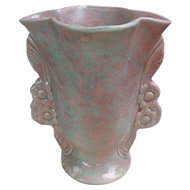 Pink and Green Mottled Glaze California Pottery Vase 3530