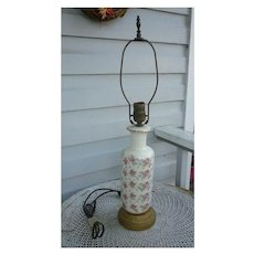 Chintz Roses Ceramic Table Lamp with Gold Trim