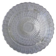 Vintage 1930s Clear Depression Glass Cake Plate