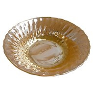 Anchor Hocking Fire King Peach Luster Swirl Bowl