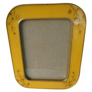Vintage Yellow with Dogwood Flowers Cloisonné Frame