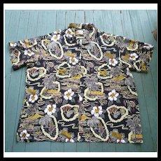 Hilo Hattie Fabulous Print Hawaiian Aloha Surfer Shirt  5XL
