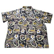 Hilo Hattie Fabulous Print Hawaiian Aloha Surfer Shirt  5XL