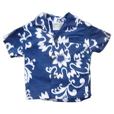 Diamond Head Blue and White Print Kids Aloha Surfer Shirt 3T