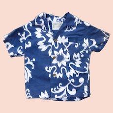 Diamond Head Blue and White Print Kids Aloha Surfer Shirt 3T
