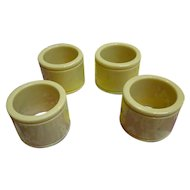 Elegant Cream Celluloid Napkin Rings Set of 4