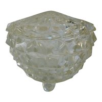 Crystal Cube Cubist Powder Jar with Lid