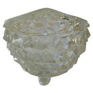 Crystal Cube Cubist Powder Jar with Lid
