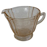 Pink Depression Glass Pretty Pattern Creamer