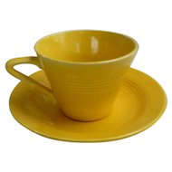 Vintage Yellow Harlequin Tea Cup and Saucer