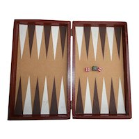 Backgammon Game Box with Bakelite Dice