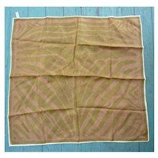 Vintage Vera Shimmering Golden Cream Copper Leaf Shapes Scarf