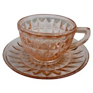 Windsor Pattern Pink Cup and Saucer