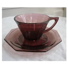 Moroccan Amethyst Cup and Saucer