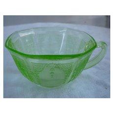 Green Princess Depression Glass Cup Hocking