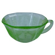 Green Princess Depression Glass Cup Hocking