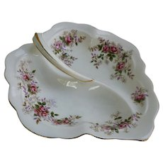 Divided Relish Lavender Rose Presentation Dish Royal Albert