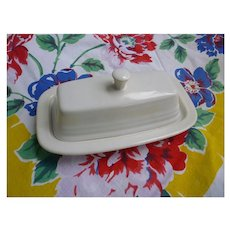 New Fiesta White Butter Dish With Lid
