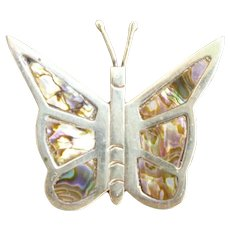 66e5c833b2744 Exquisite Large Mexico Silver 925 Filigree Butterfly Brooch : Chez ...
