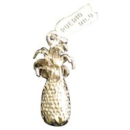 Puerto Rico Souvenir Pineapple Silver Charm