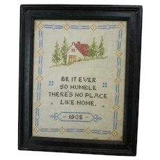 Be It Ever So Humble Needlework Sampler 1935