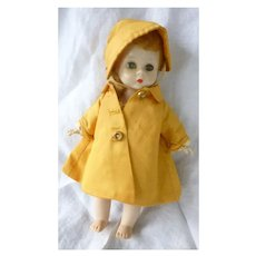 Rare Madame Alexander-kins Wendy Weather Yellow Raincoat 8 Inch Doll