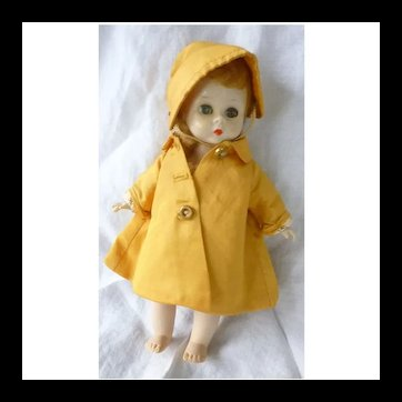 Rare Madame Alexander-kins Wendy Weather Yellow Raincoat 8 Inch Doll