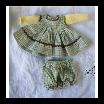 """Cute Gingham Doll Dress and Panties Set for 8"""" Doll"""