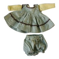 "Cute Gingham Doll Dress and Panties Set for 8"" Doll"