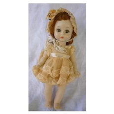 Madame Alexander 8 Inch Alexander-kins SKW Doll in Sweet Lacy Dress and Bonnet